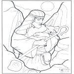 Dibujos de la Biblia - El Pastor y la oveja