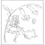 Diversos - Elfo en una flor