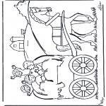 Dibujos Infantiles - En el carro de heno