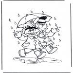 Dibujos Infantiles - En la lluvia