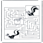Manualidades - Encuentra el camino a la mofeta