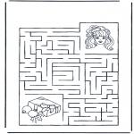 Manualidades - Encuentra el camino a la niña