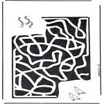Manualidades - Encuentra el camino a los gusanos