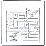 Manualidades - Encuentra el camino a los pájaros