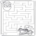 Manualidades - Encuentra el camino a Papá Noel