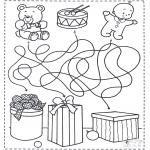 Manualidades - Encuentra el camino hacia los regalos