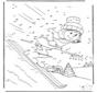 Esquí: une los números