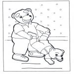 Dibujos Infantiles - Familia de osos