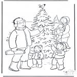 Navidad - Familia en la nieve