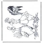 Animales - Gallo y gallina