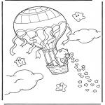 Dibujos Infantiles - Globo  de Oso Amoroso