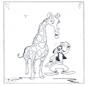 Goofy y jirafa