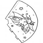Manualidades - Gorro de mariposa 1