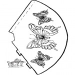 Manualidades - Gorro de mariposa 2