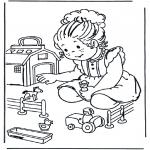 Dibujos Infantiles - Granja de juguete