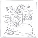 Invierno - Guerra de bolas de nieve