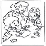 Dibujos Infantiles - Haciendo tartas