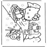 Personajes - Hello Kitty en la nieve