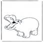 Hipopótamo contento