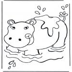 Animales - Hipopótamo en el agua