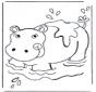 Hipopótamo en el agua