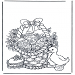 Temas - Hombre con huevos de Pascua