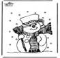 Hombre de nieve 1