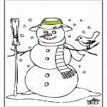 Invierno - Hombre de nieve 2