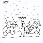 Invierno - Hombre de nieve 4