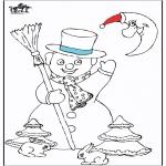Invierno - Hombre de nieve 5