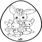 Temas - Huevo de Pascua - Tarjeta perforada 1