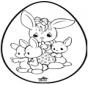 Huevo de Pascua - Tarjeta perforada 1