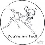 Manualidades - Invitación de Bambi