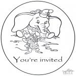 Manualidades - Invitación de Dumbo