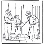 Dibujos de la Biblia - Jesús con doce años