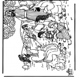 Dibujos de la Biblia - Jesús cuenta 2