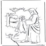 Dibujos de la Biblia - Jesús cura a un mudo
