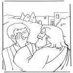 Dibujos de la Biblia - Jesús cura