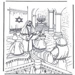Dibujos de la Biblia - Jesús en el templo