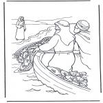 Dibujos de la Biblia - Jesús junto al agua