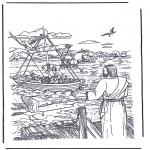 Dibujos de la Biblia - Jesús que llama a Simón y Andrés