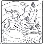Dibujos de la Biblia - Jesús sobre el mar