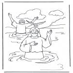 Dibujos de la Biblia - Jesús y Juan Bautista 1