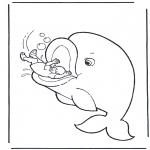 Láminas de la Biblia - Jonás y la ballena