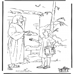 Láminas de la Biblia - José trae comida