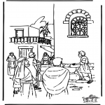 Dibujos de la Biblia - Juán habla