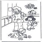 Dibujos Infantiles - Jugar con los juguetes
