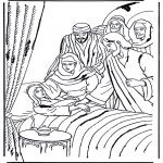 Dibujos de la Biblia - La hija de Jair 1