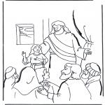 Dibujos de la Biblia - La hija de Jair 2