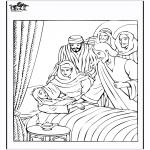 Dibujos de la Biblia - La hija de Jair 4
